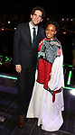 """Alex Timbers and Bahiyah Hibah during the Broadway Opening Night Legacy Robe Ceremony honoring Bahiyah Hibah for  """"Moulin Rouge! The Musical"""" at the Al Hirschfeld Theatre on July 25,2019 in New York City."""