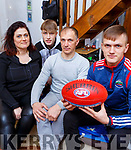 Dingle's Deivida Uosis who is heading to Australia to play Aussie Rules with his parents Inga and Laimonas and brother Aivaras