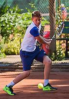 Netherlands, Dordrecht, August 03, 2015, Tennis,  National Junior Championships, NJK, TV Dash 35, Jens Hoogendam<br /> Photo: Tennisimages/Henk Koster