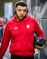 Troy Deeney of Watford (9) arriving before the Premier League match between Brighton and Hove Albion and Watford at the American Express Community Stadium, Brighton and Hove, England on 2 February 2019. Photo by Edward Thomas / PRiME Media Images.