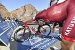 Marcel Kittel (GER) Team Katusha Alpecin gasps for breath after Stage 4 The Municipality Stage of the Dubai Tour 2018 the Dubai Tour's 5th edition, running 172km from Skydive Dubai to Hatta Dam, Dubai, United Arab Emirates. 9th February 2018.<br /> Picture: LaPresse/Fabio Ferrari | Cyclefile<br /> <br /> <br /> All photos usage must carry mandatory copyright credit (© Cyclefile | LaPresse/Fabio Ferrari)