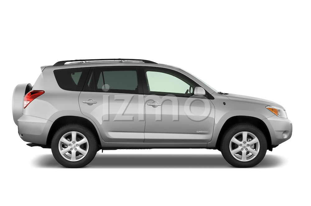 Passenger side profile view of a 2008 Toyota Rav4 Limited SUV Stock Photo