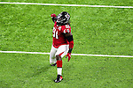 Atlanta Falcons defensive end Courtney Upshaw (91) in action during Super Bowl LI at the NRG Stadium in Houston, Texas.