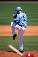 Charlotte Stone Crabs relief pitcher Edwin Fierro (30) delivers a pitch during a game against the Palm Beach Cardinals on April 10, 2016 at Charlotte Sports Park in Port Charlotte, Florida.  Palm Beach defeated Charlotte 4-1.  (Mike Janes/Four Seam Images)