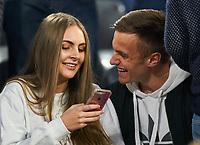 Jana W. , girlfriend of  Christian FRUECHTL, FCB 36 Spielerwife, junge huebsche wife, Maedchen, sexy, aufreizend, Figur, huebsch, smiles, attraktiv, Mode, fashion, Schmuck, Tasche, Schminke, <br /> FC BAYERN MUENCHEN - FC SEVILLA 0-0<br /> Viertelfinale 2nd leg, Football UEFA Champions League, Muenchen, Germany 11.04.2018<br /> CL  2017/2018, FCB, <br /> <br />  *** Local Caption *** © pixathlon<br /> Contact: +49-40-22 63 02 60 , info@pixathlon.de