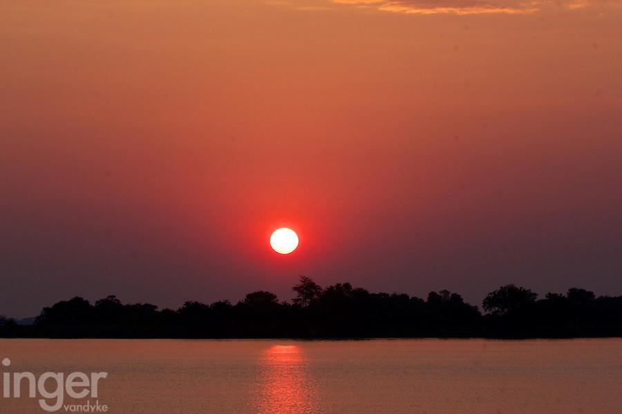 Sunrise over the Okavango Delta in Botswana