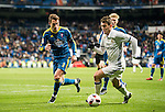Mateo Kovacic (r) of Real Madrid competes for the ball with Hugo Mallo Novegil of RC Celta de Vigo during their Copa del Rey 2016-17 Quarter-final match between Real Madrid and Celta de Vigo at the Santiago Bernabéu Stadium on 18 January 2017 in Madrid, Spain. Photo by Diego Gonzalez Souto / Power Sport Images