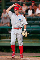 May 6 2010: John Suomi (25) of the Clearwater Threshers during a game vs. the Daytona Cubs at Jackie Robinson Ballpark in Daytona Beach, Florida. Clearwater, the Florida State League High-A affiliate of the Philadelphia Phillies, won the game against Daytona, affiliate of the Chicago Cubs, by the score of 4-1.  Photo By Scott Jontes/Four Seam Images