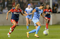 Chicago, IL - Saturday Sept. 24, 2016: Caprice Dydasco, Christen Press during a regular season National Women's Soccer League (NWSL) match between the Chicago Red Stars and the Washington Spirit at Toyota Park.