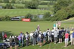European Ryder Cup captain Paul McGinley holes a long birdie putt on the 16th green during the 3rd round of ISPS Handa Wales Open 2013 at the Celtic Manor Resort.<br /> <br /> 31.08.13<br /> <br /> ©Steve Pope-Sportingwales