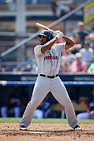 Portland Sea Dogs first baseman Josh Ockimey (29) at bat during the first game of a doubleheader against the Reading Fightin Phils on May 15, 2018 at FirstEnergy Stadium in Reading, Pennsylvania.  Portland defeated Reading 8-4.  (Mike Janes/Four Seam Images)