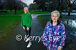 Launching the Kerry Hospice fundraising virtual run in memory the late Jemma O'Shea in the Town Park which will be held on the Easter weekend. Front right: Josie O'Shea with Michelle Greaney