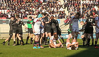 Monday 19th March 2018    Ulster Schools Cup Final 2018<br /> <br /> The final whistle during the 2018 Ulster Schools Cup Final between the Royal School Armagh and Campbell College at Kingspan Stadium, Ravenhill Park, Belfast, Northern Ireland. Photo by John Dickson / DICKSONDIGITAL