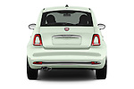 Straight rear view of 2016 Fiat 500 Lounge 3 Door Hatchback Rear View  stock images