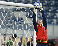 Luna Huang #18 of the PRC WNT during an international friendly match against the USA WNT at PPL Park, on October 6 2010 in Chester, PA. The game ended in a 1-1 tie.