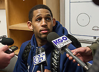 March 21st, 2013: California's Allen Crabbe is being interviewed during post West Coast Conference Men's NCAA Basketball game against UNLV at HP Pavilion, San Jose, California. California defeated UNLV 64 - 61