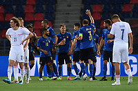 Nicolo Barella of Italy celebrates with team mates after scoring a goal <br /> Uefa European friendly football match between Italy and Czech Republic at stadio Renato Dall'Ara in Bologna (Italy), June, 4th, 2021. Photo Image Sport / Insidefoto