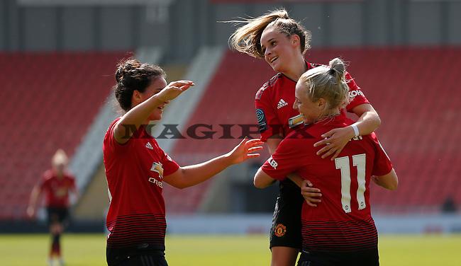 Leah Galton of Manchester United Women cele with Ella Toone of Manchester United Women