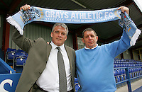 Frank Gray (New Manager) and Mick Woodward (Chairman) at Grays Athletic Football Club - 25/05/06