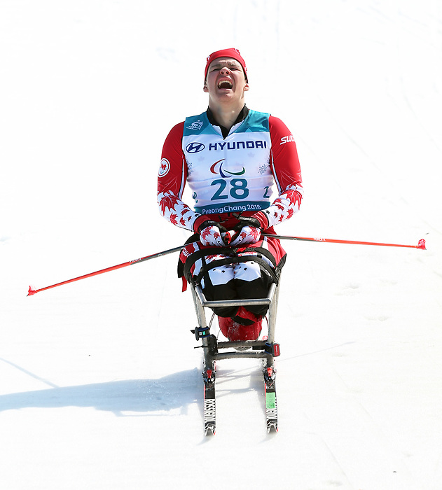 Pyeongchang, Korea, 14/3/2018-Ethan Hess competes in the cross country sprints during the 2018 Paralympic Games in PyeongChang. Photo Scott Grant/Canadian Paralympic Committee.