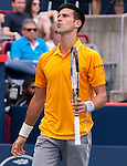Novak Djokovic (SRB) defeats Jeremy Chady (FRA) 6-4, 6-4 at the Rogers Cup in Montreal,  on August 15, 2015.