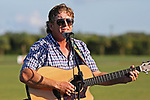 WELLINGTON, FL - NOVEMBER 25:  Tom Blake sings the United States National Anthem.  At the USPA International Cup at the Grand Champions Polo Club, on November 25, 2017 in Wellington, Florida. (Photo by Liz Lamont/Eclipse Sportswire/Getty Images)