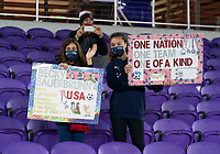 ORLANDO, FL - JANUARY 18: USWNT fans cheer during a game between Colombia and USWNT at Exploria Stadium on January 18, 2021 in Orlando, Florida.