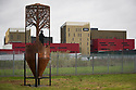 12/10/18<br /> <br /> Silo by by Dan Rawlings.<br /> <br /> The new  sculpture park on the Salt Brook Trail in Hatton, overlooking the Nestlé factory in Derbyshire.<br /> <br /> All Rights Reserved, F Stop Press Ltd. (0)1335 344240 +44 (0)7765 242650  www.fstoppress.com rod@fstoppress.com