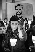 25.01.2019 - 3 Anni Senza Giulio - Candlelit Vigil In Memory Of Giulio Regeni Outside Parliament