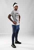 Pictured: Luciano Narsingh<br /> Swansea City FC and Ospreys RFC Christmas photo shoot at the Fairwood Trainining Ground, near Swansea, Wales, UK. 17 October 2017
