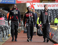 Crystal Palace players arrive before the Barclays Premier League match between Swansea City and Crystal Palace at the Liberty Stadium, Swansea on February 06 2016