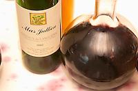 Domaine Mas Jullien, Jonquieres village. Terrasses de Larzac. Languedoc. France. Europe. Bottle.