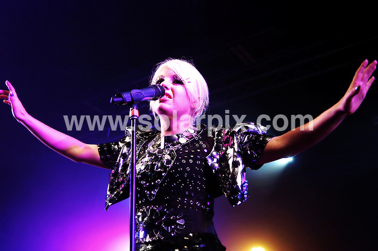 **ALL ROUND PICTURES FROM SOLARPIX.COM**.**WORLDWIDE SYNDICATION RIGHTS**.Little Boots aka Victoria Hesketh performs live in concert at the Liverpool 02 Academy, Liverpool, UK. 27 October 2009..This pic: Little Boots..JOB REF: 10195 SGD     DATE: 27_10_2009.**MUST CREDIT SOLARPIX.COM OR DOUBLE FEE WILL BE CHARGED**.**MUST NOTIFY SOLARPIX OF ONLINE USAGE**.**CALL US ON: +34 952 811 768 or LOW RATE FROM UK 0844 617 7637**