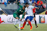 Action photo during the match Chile vs Bolivia at Gillette Stadium Copa America Centenario 2016. ---Foto  de accion durante el partido Chile vs Bolivia, En el Estadio Gillette, Partido Correspondiante al Grupo - D -  de la Copa America Centenario USA 2016, en la foto: (I)-(D) Yasmani Duk, Gary Medel<br /> <br /> --- 10/06/2016/MEXSPORT/PHOTOSPORT/ Andres Pina