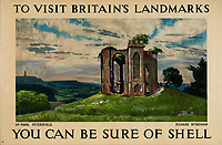 BNPS.co.uk (01202 558833)<br /> Pic: Lyon&Turnbull/BNPS<br /> <br /> Pictured: A poster featuring the picturesque Up Park in Petersfield in Hampshire<br /> <br /> A vast collection of vintage Shell posters have sold at auction for almost £60,000.<br /> <br /> The group of 49 sheets were sold directly from the oil giant's archives and featured some incredibly rare designs from down the years.<br /> <br /> All of the posters had previously been used in Shell advertising campaigns, dating back to between the 1920s and 1950s.<br /> <br /> Many of the colourful designed featured the slogan 'You can be sure of Shell' and list people who preferred their fuel.
