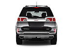 Straight rear view of 2016 GMC Terrain Denali 5 Door SUV Rear View  stock images