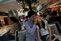 Guang Hui Plaza mall, West part of Shanghai--Xugiahui area.  Sundays are particularly crowded...