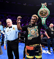 ONTARIO, CA - DECEMBER 21: Jermell Charlo defeats Tony Harrison to take the WBC World Super Welterweight Championship on the Fox Sports PBC Fight Night at Toyota Arena on December 21, 2019 in Ontario, California. (Photo by Frank Micelotta/Fox Sports/PictureGroup)