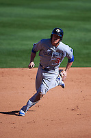 Glendale Desert Dogs second baseman Brandon Dixon (3) running the bases during an Arizona Fall League game against the Surprise Saguaros on October 23, 2015 at Salt River Fields at Talking Stick in Scottsdale, Arizona.  Glendale defeated Surprise 9-6.  (Mike Janes/Four Seam Images)