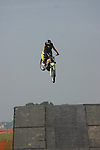 Cyclist at the Indiana Air Show