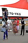 Deplaning At Mzuzu Airport