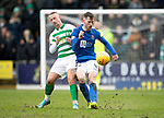 St Johnstone v Celtic…..01.03.20   McDiarmid Park   Scottish Cup Quarter Final<br />Jamie McCart is fouled by Leigh Griffiths<br />Picture by Graeme Hart.<br />Copyright Perthshire Picture Agency<br />Tel: 01738 623350  Mobile: 07990 594431