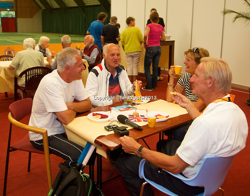 2013,August 24,Netherlands, Amstelveen,  TV de Kegel, Tennis, NVK 2013, National Veterans Tennis Championships,   hightea<br /> Photo: Henk Koster