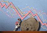 Illustrative representation showing stock market crash