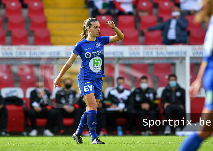 Gent's Elise Meijerinck (23)  pictured during a female soccer game between Zulte Waregem and the KAA Gent Ladies on the fourth matchday of the 2020 - 2021 season of Belgian Scooore Womens Super League , saturday 10 October 2020  in Waregem , Belgium . PHOTO SPORTPIX.BE | SPP | DAVID CATRY