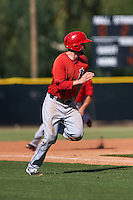 Los Angeles Angels Andrew Daniel (18) during an instructional league game against the Arizona Diamondbacks on October 9, 2015 at the Tempe Diablo Stadium Complex in Tempe, Arizona.  (Mike Janes/Four Seam Images)