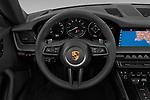 Car pictures of steering wheel view of a 2021 Porsche 911 Carrera 2 Door Convertible Steering Wheel