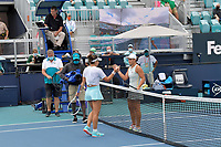 MIAMI GARDENS, FLORIDA - APRIL 03: ((NO SALES TO NEW YORK POST) Ashleigh Barty of Australia defeats Bianca Andreescu of Canada during the women's singles final of the Miami Open at Hard Rock Stadium on April 03, 2021 in Miami Gardens, Florida.<br /> <br /> <br /> People:  Ashleigh Barty Credit: hoo-me / MediaPunch