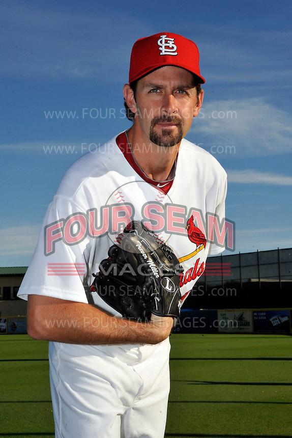 Mar 01, 2010; Jupiter, FL, USA; St. Louis Cardinals pitcher Trever Miller (43) during  photoday at Roger Dean Stadium. Mandatory Credit: Tomasso De Rosa/ Four Seam Images