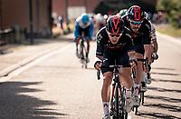 Michal Kwiatkowski (POL/Ineos Grenadiers) & Luke Rowe (GBR/Ineos-Grenadiers)<br /> <br /> 60th De Brabantse Pijl 2020 - La Flèche Brabançonne (1.Pro)<br /> 1 day race from Leuven to Overijse (BEL/197km)<br /> <br /> ©kramon